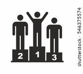 podium icon | Shutterstock .eps vector #546375574