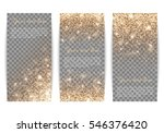 set of banners with gold... | Shutterstock .eps vector #546376420