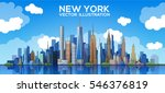 new york skyline. vector... | Shutterstock .eps vector #546376819