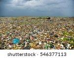 endless waste trash garbage... | Shutterstock . vector #546377113