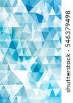 blue background of triangular... | Shutterstock . vector #546379498