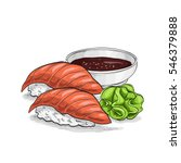 sushi color sketch  sushi... | Shutterstock . vector #546379888