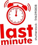 last minute text  label red... | Shutterstock .eps vector #546390808