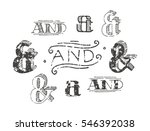 set of decoration ampersands... | Shutterstock .eps vector #546392038