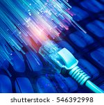 network cables closeup with... | Shutterstock . vector #546392998