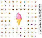 ice cream icon illustration... | Shutterstock .eps vector #546395626