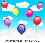 vector background with balloons. | Shutterstock .eps vector #54639712