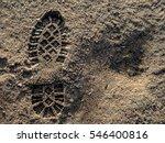 footprint in the dirt | Shutterstock . vector #546400816