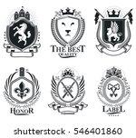 heraldic coat of arms... | Shutterstock . vector #546401860