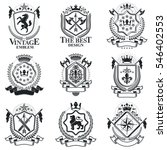 vintage decorative emblems... | Shutterstock . vector #546402553
