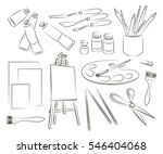 icons set of profession like...   Shutterstock . vector #546404068