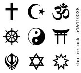Stock vector symbols of world religions nine signs of major religious groups and principle religions 546410038