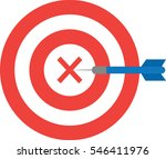 vector red bullseye with x mark ... | Shutterstock .eps vector #546411976