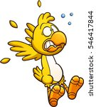 scared cartoon chicken. vector... | Shutterstock .eps vector #546417844