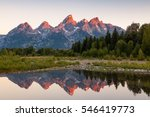 Sunrise at Schwabacher Landing, Grand Teton National Park