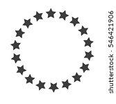 stars border frame  isolated on ... | Shutterstock .eps vector #546421906