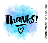 thanks  lettering illustration. ... | Shutterstock .eps vector #546423700