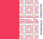 valentines day vintage card... | Shutterstock .eps vector #546423754