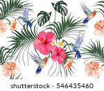 beautiful seamless vector... | Shutterstock .eps vector #546435460