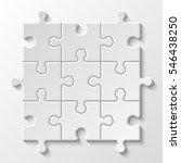 puzzle piece business... | Shutterstock .eps vector #546438250