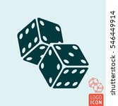 Casino Dice Icon. Two Game...