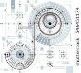 technical plan  engineering... | Shutterstock . vector #546451174