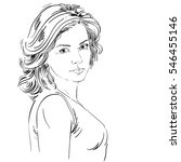 hand drawn illustration of... | Shutterstock . vector #546455146