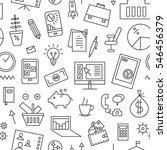 business seamless background | Shutterstock .eps vector #546456379