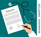 doctor puts signature in the... | Shutterstock .eps vector #546457150