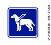 guide dog sign | Shutterstock .eps vector #546457306