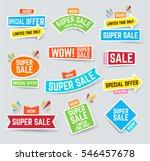 set of super sale banner for... | Shutterstock .eps vector #546457678