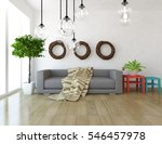 white room with a sofa. living... | Shutterstock . vector #546457978