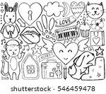 sketch cute elements. vector...