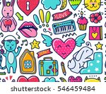 doodle cute seamless pattern....