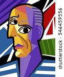 Cubist Great Artist Portrait