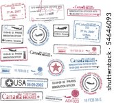passport stamps | Shutterstock .eps vector #54646093