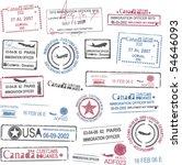 passport stamps | Shutterstock .eps vector #54646093