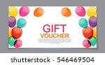 gift voucher template for... | Shutterstock .eps vector #546469504