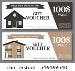 gift voucher template with... | Shutterstock .eps vector #546469540