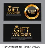 gift voucher template for... | Shutterstock .eps vector #546469603