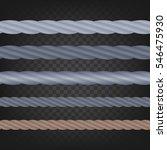 Metal Cables Vector  Set.
