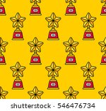 gold trophy with star. colored... | Shutterstock .eps vector #546476734