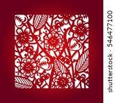 laser cut flower square pattern ... | Shutterstock .eps vector #546477100