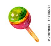 colorful watercolor candy... | Shutterstock . vector #546480784