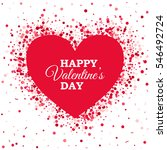 happy valentines day template... | Shutterstock .eps vector #546492724