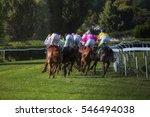 Race Horses With Jockeys Runs...