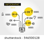 yellow linear infographic... | Shutterstock .eps vector #546500128