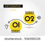 yellow infographic linear wave  ... | Shutterstock .eps vector #546500134