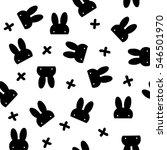 Hidden Black Rabbit With Cross...