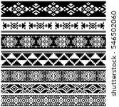 african and mexican aztec... | Shutterstock .eps vector #546502060